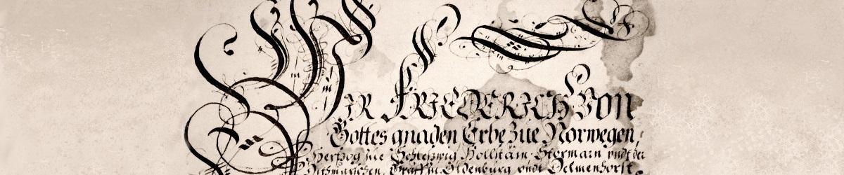 Gilderolle der Bürgergilde zu Neumünster seit 1578 aus dem Jahre 1654